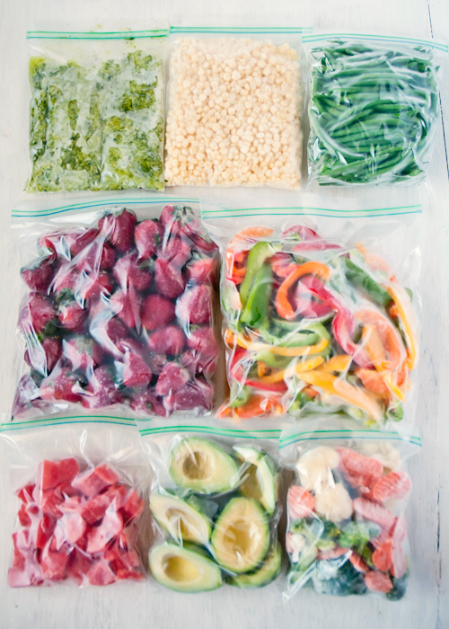 Freezing Fruits & Vegetables - A complete how-to - freezing produce for smoothies featured by top lifestyle blogger, Design Mom