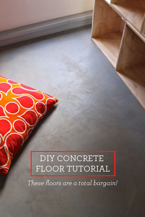 Diy Concrete Floor Home Diys